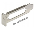 DELOCK Low Profile Slot Bracket with SUB-D 25 open