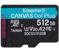 Card Micro SDXC Kingston 512GB Canvas Go Plus 170R