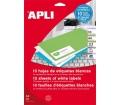 APLI etikett, univerzális, 210x148 mm, 20 db