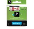 DYMO címke LM D1 alap 12mm Piros/Fehér
