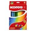 Kores Színes ceruza készlet, háromszögletű, 36db