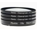 Phottix +1,+2,+4,10x macro előtét 77mm