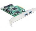 Delock PCI Express kártya>2xkülső USB3, 2 x SATA