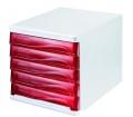 Helit Irattároló műanyag fehér/piros