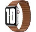 Apple bőrszíj 44mm vörösesbarna L