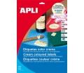 APLI 97x67,7mm színes krémszínű 160db/cs