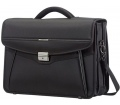 "Samsonite Desklite Briefcase 3 Gussets 15.6"" Black"