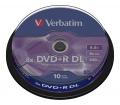 Verbatim DVD+R 8,5GB 8x DL henger 10db