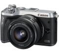 Canon EOS M6 + EF-M 15-45mm ezüst