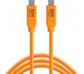 TT TetherPro USB 3.1 Type-C > Type-C 3m narancs