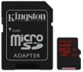 Kingston microSDXC UHS-I U3 90R/80W 64GB + adapter