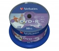 VERBATIM DVD+R 4,7GB 16X PRINTABLE FULL NO ID CAKE