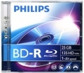 Philips BD-R25 25Gb 6× (1 db) Jewel Case