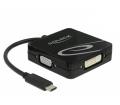 Delock USB-C > VGA / HDMI / DVI / DisplayPort