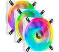 Corsair iCUE QL120 RGB PWM fehér 3db + L. N. Core