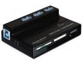 Delock USB 3.0 3 portos hub + kártyaolvasó