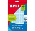 APLI etikett, 12x18 mm, kézzel írható, színes, kék