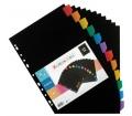 Viquel Regiszter, műanyag, A4 Maxi, 12db fekete