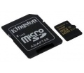 Kingston MicroSD 16GB Adapterrel CL10 UHS-I