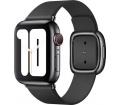 Apple bőrszíj modern csattal 40mm fekete S