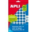 APLI etikett, 10 mm, kör, kézzel írható, színes