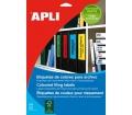 APLI etikett, 190x61 mm, színes, zöld, 80 db