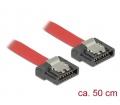 Delock SATA 6 Gb/s flexibilis kábel 50 cm vörös