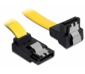 Delock SATA 6 Gb/s le/fel kábel, fém, 30 cm