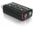 Delock USB Hangkártya 7.1 Fekete
