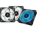 Arctic P12 PWM PST RGB 0dB Black Value Pack 3db