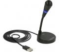 Delock USB mikrofon talppal és érintős némító gomb