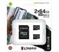 Kingston Canvas Select Plus microSDXC 64GB 2db+ad.