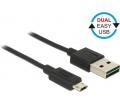 Delock EASY-USB A > EASY-USB micro-B 0,5m fekete