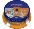 Verbatim DVD-R 4,7GB 16x henger 25db nyomtatható
