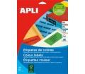 APLI etikett, 105x148 mm, színes, kék, 80 etikett