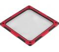 SilverStone FF124-E hang/porszűrő fekete-piros