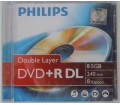 Philips DVD+R85 Dual-Layer 8x keskeny tok