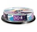Philips DVD-R 4,7GB 16x 10 db-os hengeres tokban