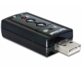 Delock USB 2.0 külső hangátalakító 24 bit / 96 kHz