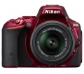 Nikon D5500 + 18-55 VR II kit vörös