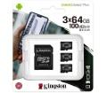Kingston Canvas Select Plus microSDXC 64GB 3db+ad.