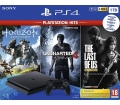 Sony PlayStation 4 Slim 1TB fekete GTS + HZD + UC4
