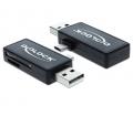 Delock Micro USB OTG-kártyaolvasó + USB A